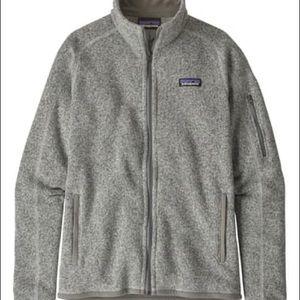 Patagonia better sweater full zip jacket gray new
